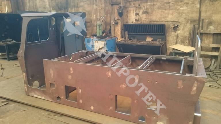 Изработка на рама за минен локомотив по проект на МГУ